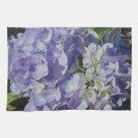 Hydrangea azul púrpura toallas