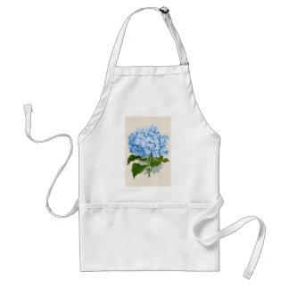 Hydrangea azul romántico botánico antiguo delantal
