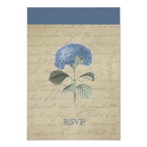 Hydrangea azul RSVP del vintage Anuncio