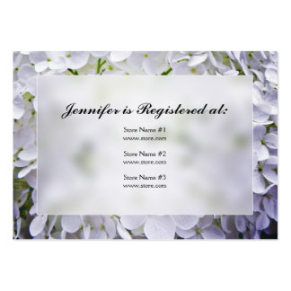 Hydrangea Baby Shower Registry Cards Large Business Cards (Pack Of 100)