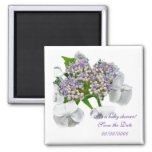 Hydrangea Baby Shower Save the Date Magnet