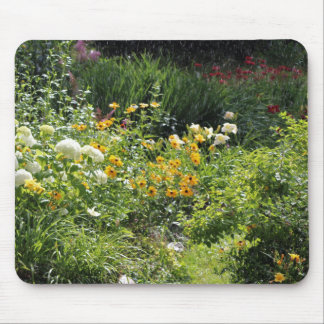 Hydrangea Black-eyed-susans,Red Bee Balm Mouse Pad