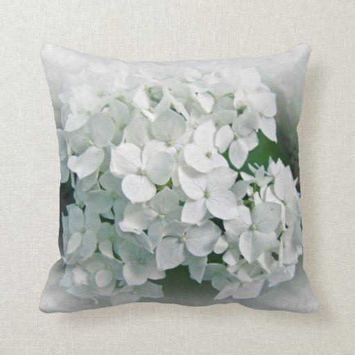 Hydrangea blanco - almohada