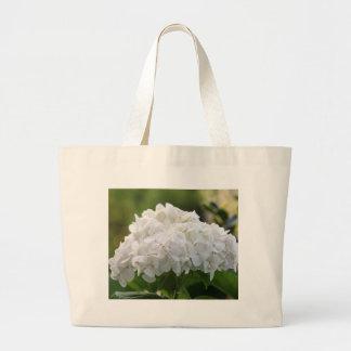 hydrangea blanco bolsas de mano