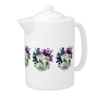 Hydrangea blanco con Cantorbery Belces y sabio