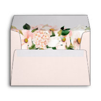 Hydrangea Blossom Blush Pink Floral for 5x7 card Envelope