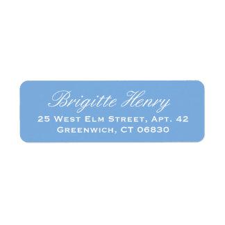 Hydrangea Blue and White    Wedding Label