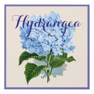 Hydrangea Blue Flower Panel Wall Art