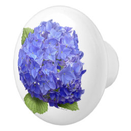 Hydrangea Blue Heaven Ceramic Knob