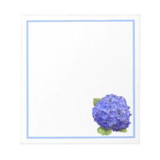 Hydrangea Blue Heaven Notepad Sm