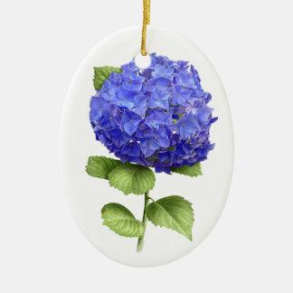 Hydrangea Blue Heaven Oval Ornament