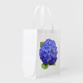 Hydrangea Blue Heaven Reusable Grocery Bag