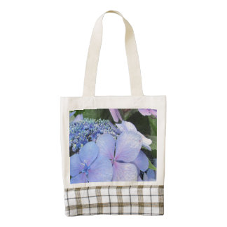 Hydrangea Blue Purple Pretty Flower Zazzle HEART Tote Bag