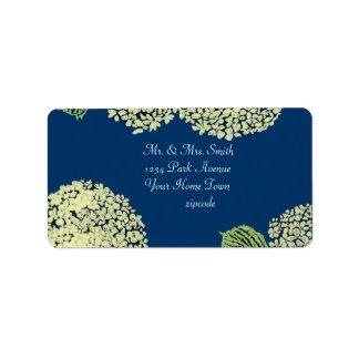 Hydrangea Blueberry Label