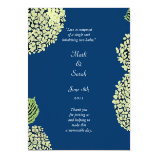 Hydrangea Blueberry Wedding Program
