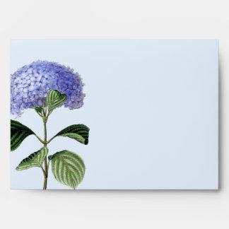 Hydrangea Botanical Greeting Card Envelope