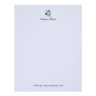 Hydrangea Botanical Letterhead