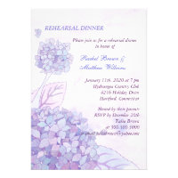 Hydrangea Bouquet Wedding Rehearsal Dinner Invites