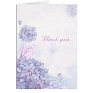 Hydrangea Bouquet Wedding Thank You Card