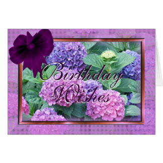 Hydrangea & Bow cards- customize for any occasion