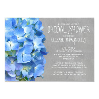 Hydrangea Bridal Shower Invitations
