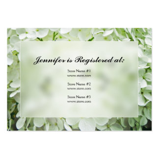 Hydrangea Bridal Shower Registry Cards Large Business Cards (Pack Of 100)