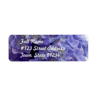 Hydrangea Bush Mailing Label Return Address Label