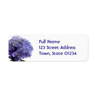 Hydrangea Bush Return Address Mailing Label Return Address Label