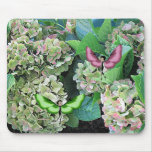 Hydrangea & Butterfairies Mousepads