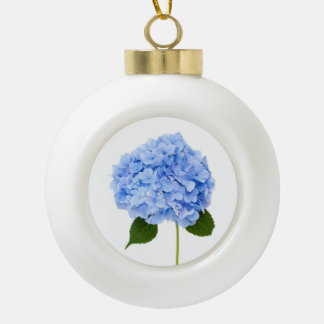 Hydrangea Ceramic Ball Christmas Ornament