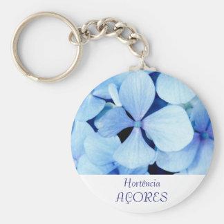 Hydrangea closeup basic round button keychain
