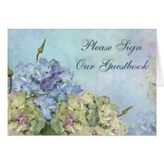 Hydrangea de la acuarela floral - Guestbook de la  Tarjeta