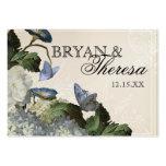 Hydrangea de la correhuela - tarjetas del asiento  tarjeta de visita