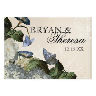 Hydrangea de la correhuela - tarjetas del asiento tarjetas de visita grandes