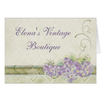 Hydrangea de la lila de la apariencia vintage, tarjeta pequeña