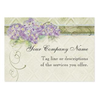 Hydrangea de la lila de la apariencia vintage - tarjetas de visita grandes