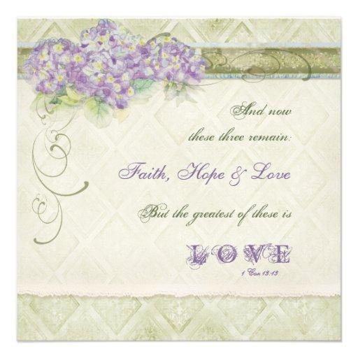 Hydrangea de la lila del estilo del vintage - invi comunicado