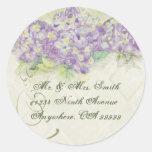 Hydrangea de la lila del vintage - pegatinas del s