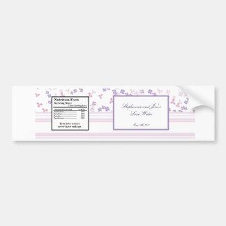 Hydrangea de la púrpura de la etiqueta de la botel etiqueta de parachoque