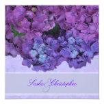Hydrangea del azul de PixDezines Invitación 13,3 Cm X 13,3cm