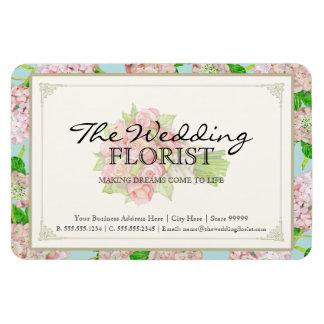 Hydrangea del rosa del ramo del negocio del boda d imán foto rectangular