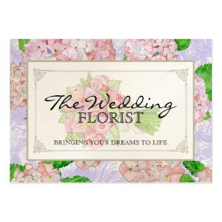 Hydrangea del rosa del ramo del negocio del boda d plantillas de tarjeta de negocio