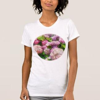 Hydrangea del rosa y de la lavanda camisetas