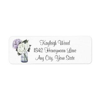 Hydrangea Dreams Return Address Labels