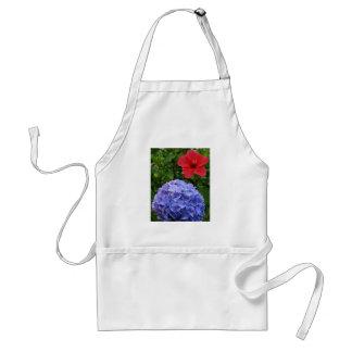 Hydrangea e hibisco delantal