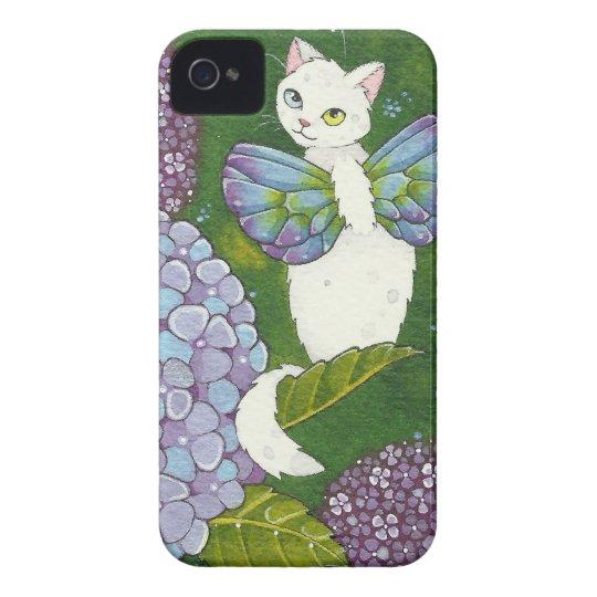 Hydrangea Floral Cat Fairy iPhone Case Moussart