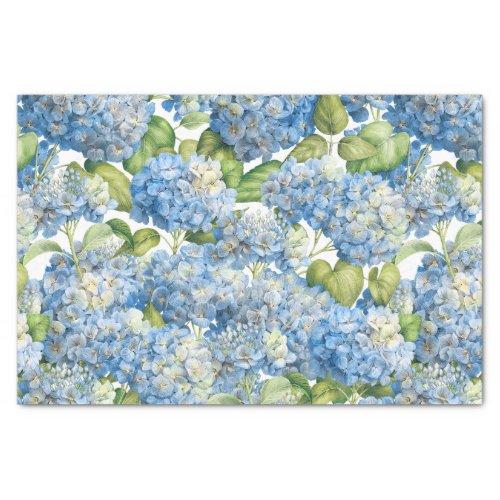 Hydrangea Floral Classic Blue Pattern Tissue Paper
