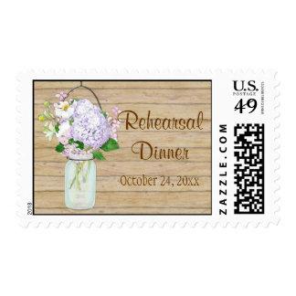 Hydrangea floral del país de albañil de la lavanda sello