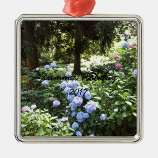 Hydrangea Floral Trees Nature Photography Metal Ornament