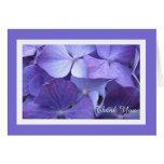 Hydrangea Flower Blank Thank You Card